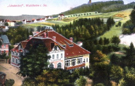 Alte Postkarte Ballhaus Lindenhof